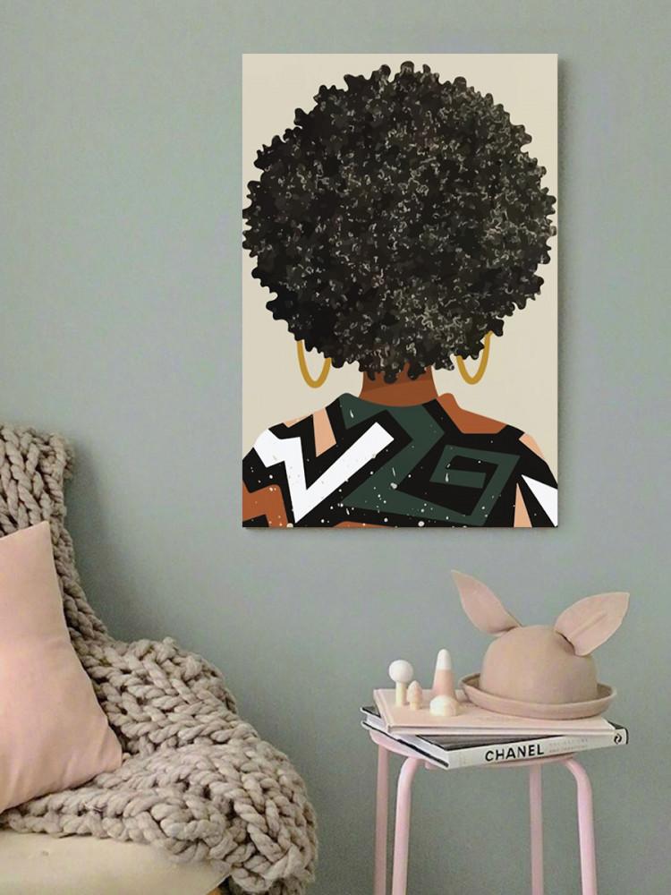 لوحة المرأة الافريقية خشب ام دي اف مقاس 40x60 سنتيمتر