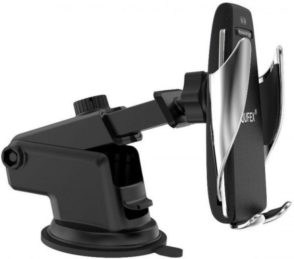 Qufex Fast Wireless Car Charger Holder With Clip and Mounted Base