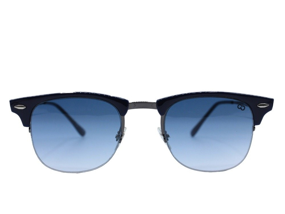 نظاره شمسية نصف اطار من ماركة SMAX لون العدسة كحلي مدرج  للجنسين حصرية