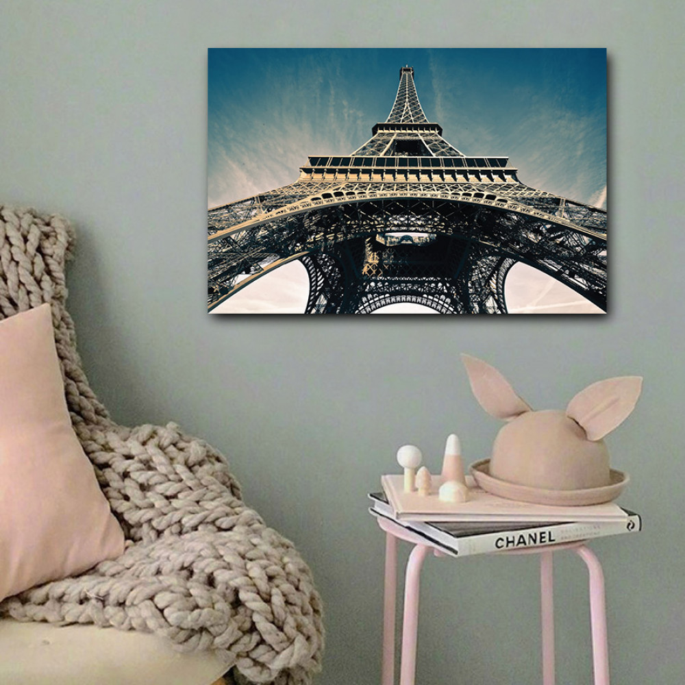 لوحة برج ايفل باريس خشب ام دي اف مقاس 40x60 سنتيمتر