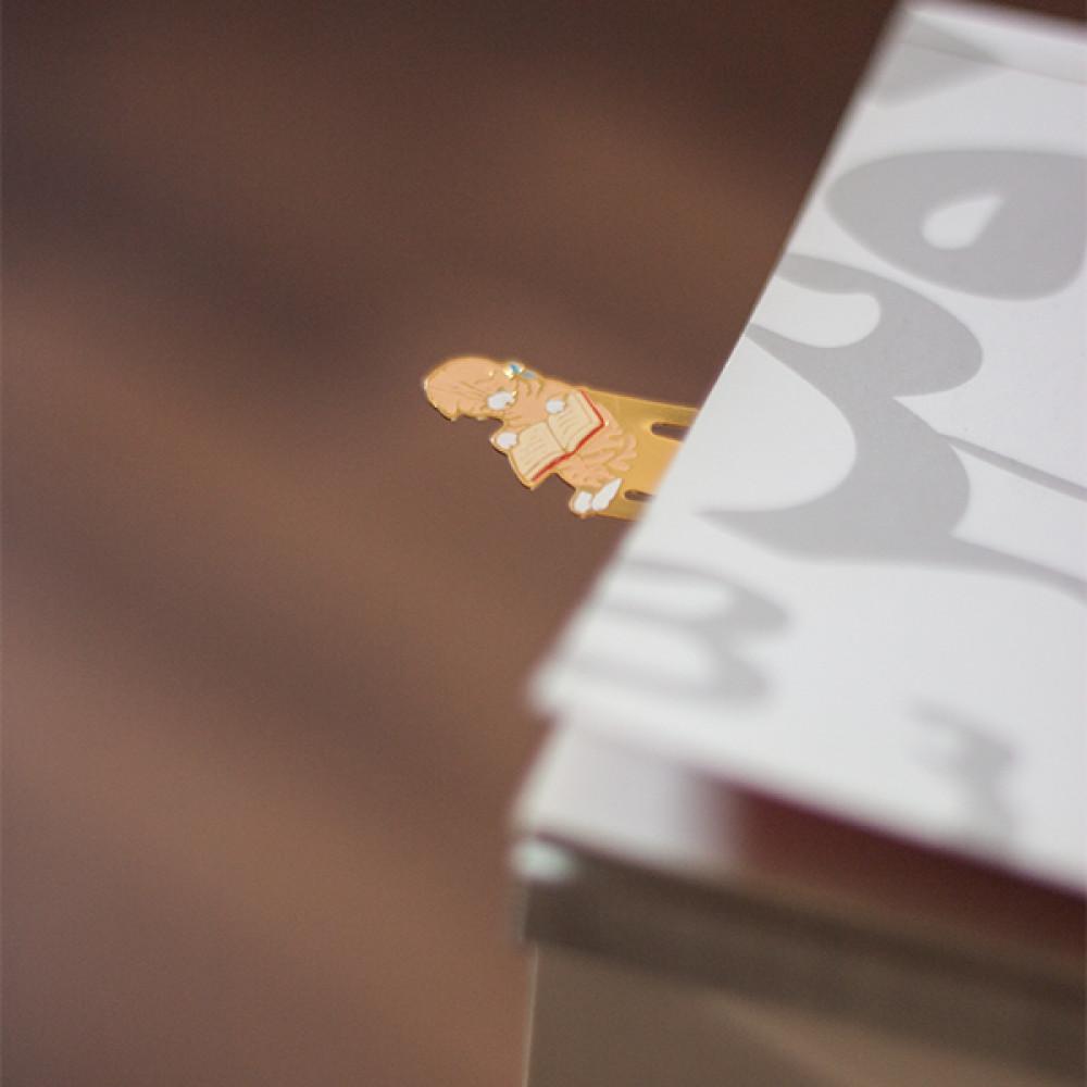 هدية لمحبي القراءة والروايات فواصل كتب معدنية بأشكال القطط