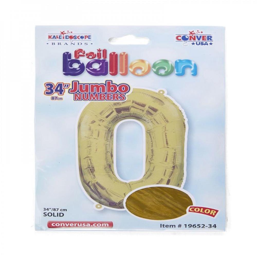 بالون ذهبي, بالون  رقم 0, بلونات أرقام, Golden Balloon