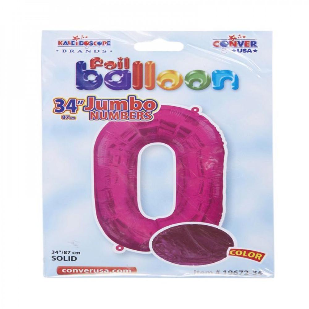 بالون وردي, بالون رقم 0, Pink Balloon, بلونات أرقام زهرية