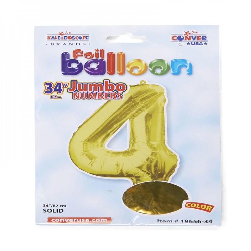 بالون ذهبي, بالون 4, Golden Balloon, بلونات أرقام