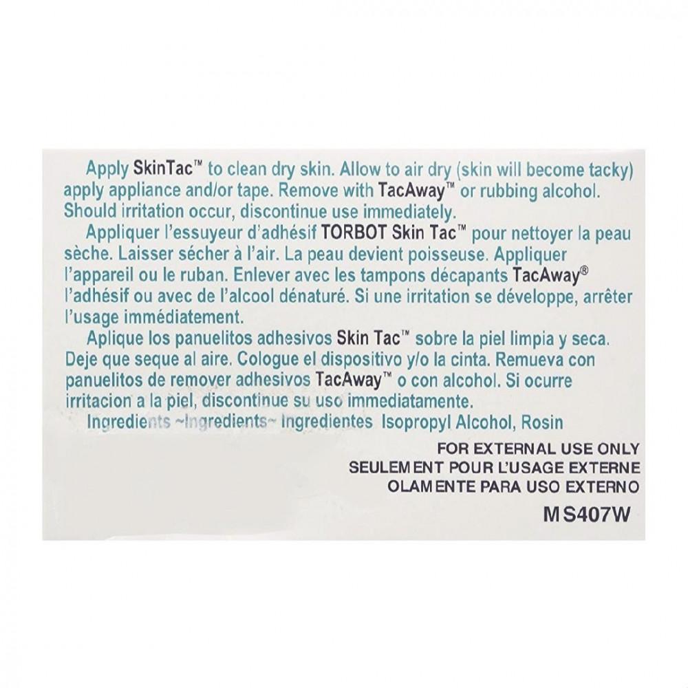 Skin tac -مسحات لاصق شفاف 50 حبهSkin tac مسحات لاصق شفاف 50 حبه