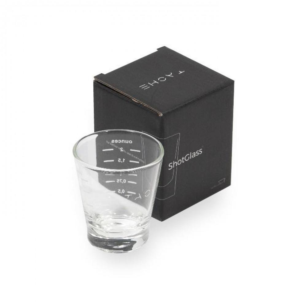 كأس زجاجي صغير للاسيبريسو