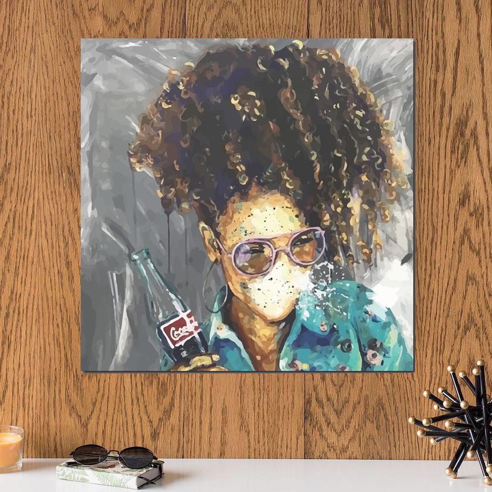 لوحة المرأة خشب ام دي اف مقاس 30x30 سنتيمتر