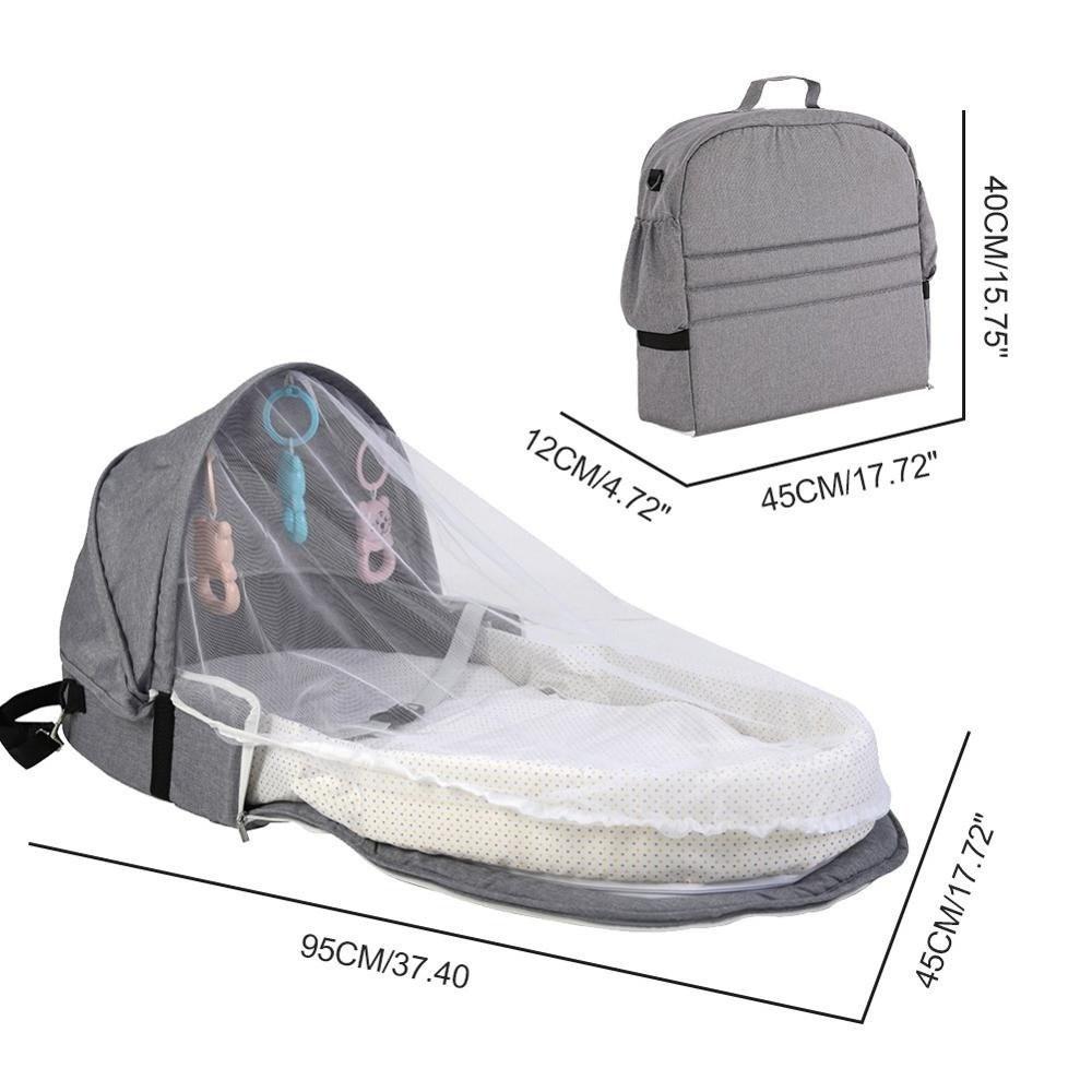 حقيبة وسرير السفر المحمول