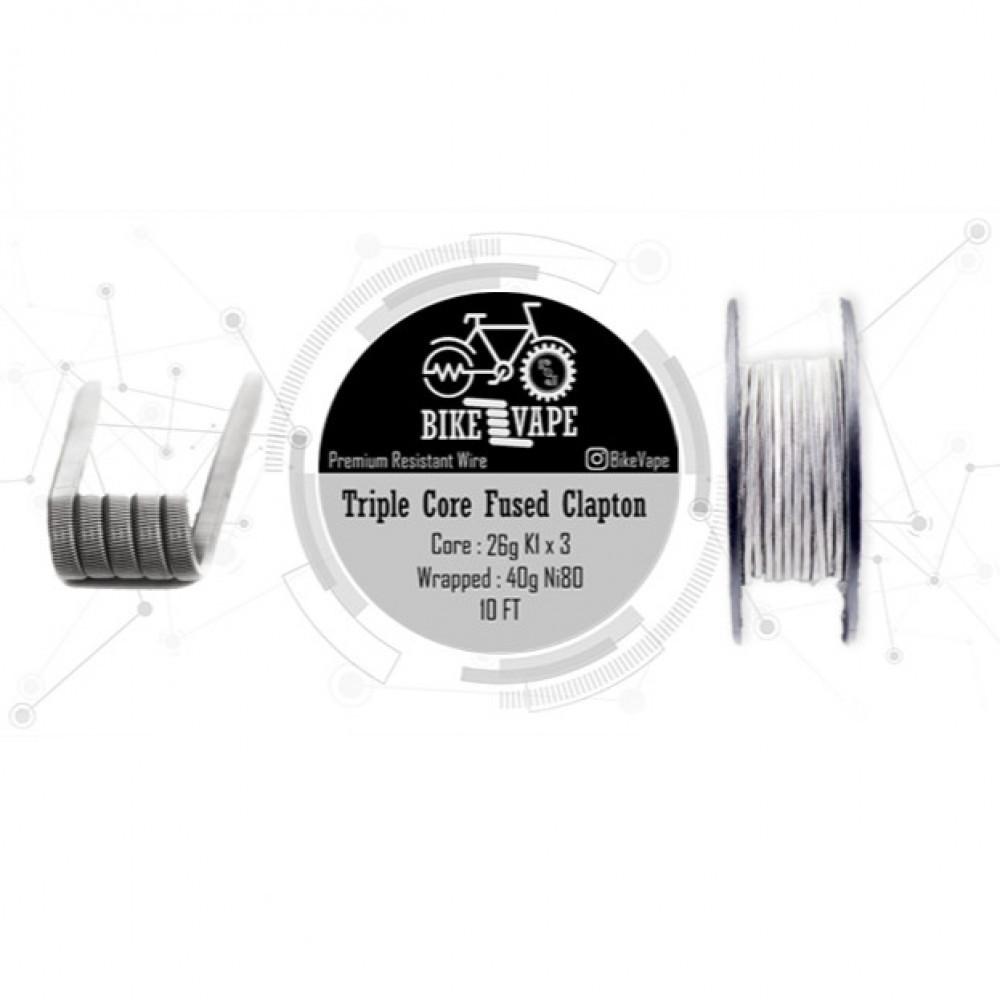 كيبل ثلاثي طول 10 قدم يكفي لتصنيع 30 كويل بجودة عالية Bike Vape Wire B