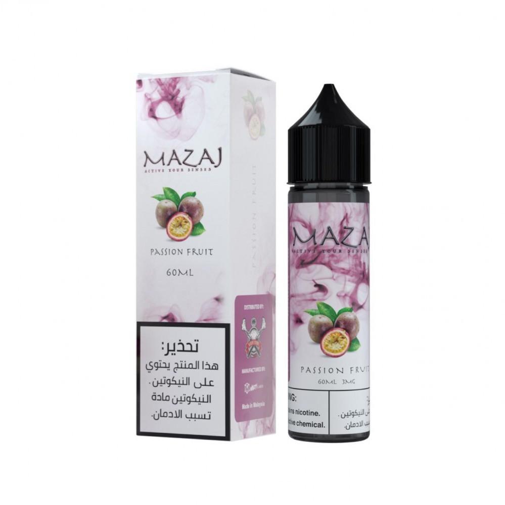 نكهة مزاج باشن فروت فيب 60 مل Mazaj Passion Fruit Vape- 60ML
