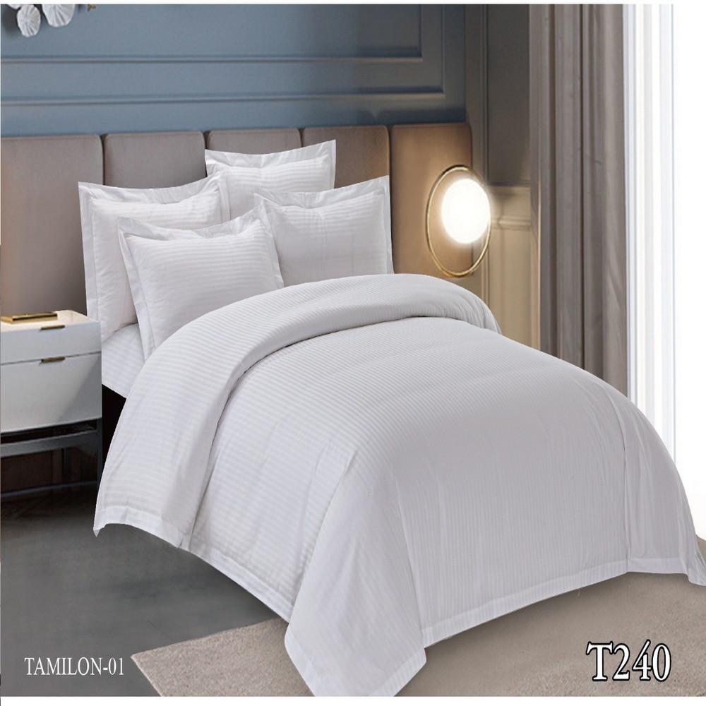 لحاف فندقي تاميلون مزدوج 240 غرزة أبيض
