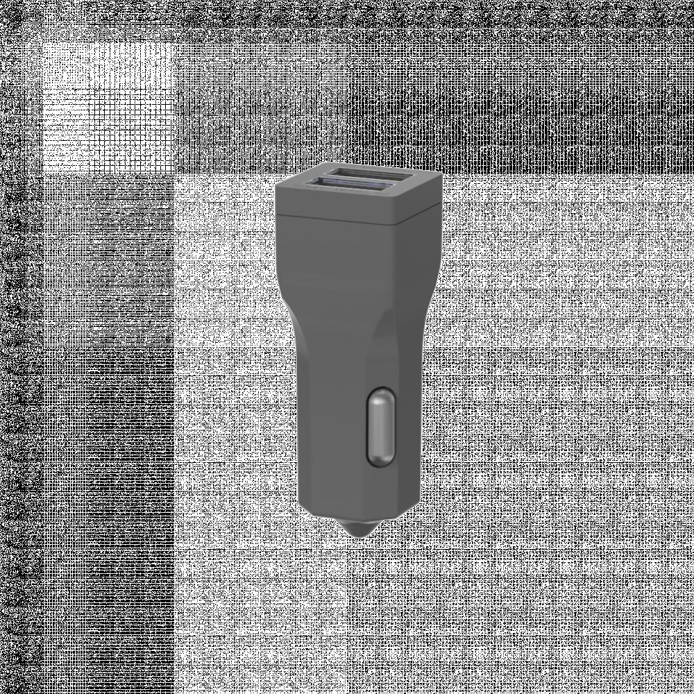 شاحن ألوكاكوك للسيارة منفذين لون اسود يدعم شحن نوع USB