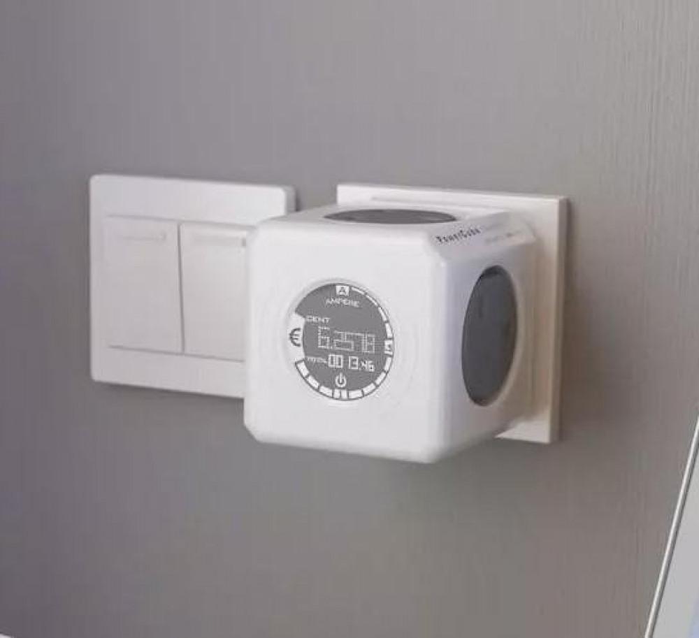 الان الفيش الكهربي الجداري الرباعي مع ساعة المراقبة