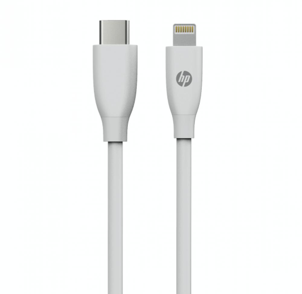 كيبل شحن ونقل معلومات USB نوع اتش بي MF102 ايفون لون ابيض طول 2 متر