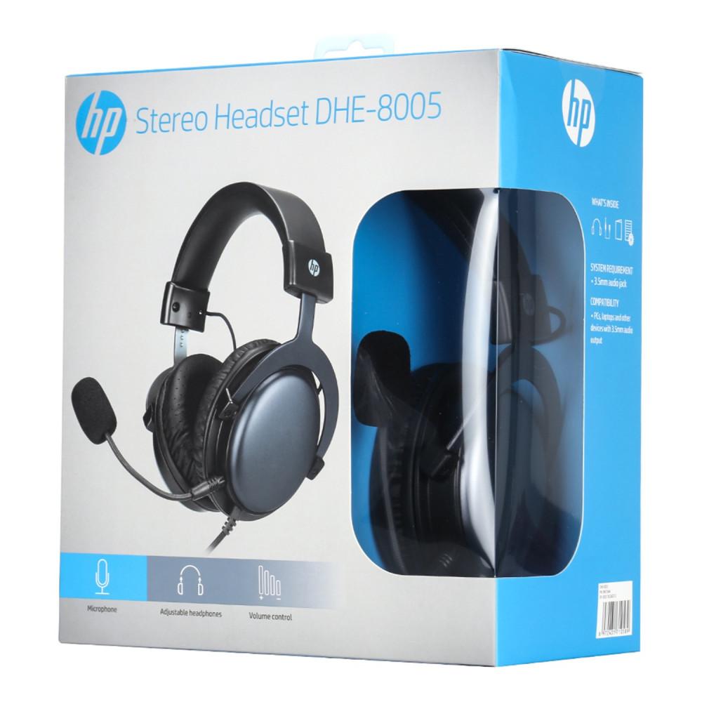 علبة منتج سماعة رأس ستيريو إتش بي لألعاب الفيديو DHE-8005 لون اسود