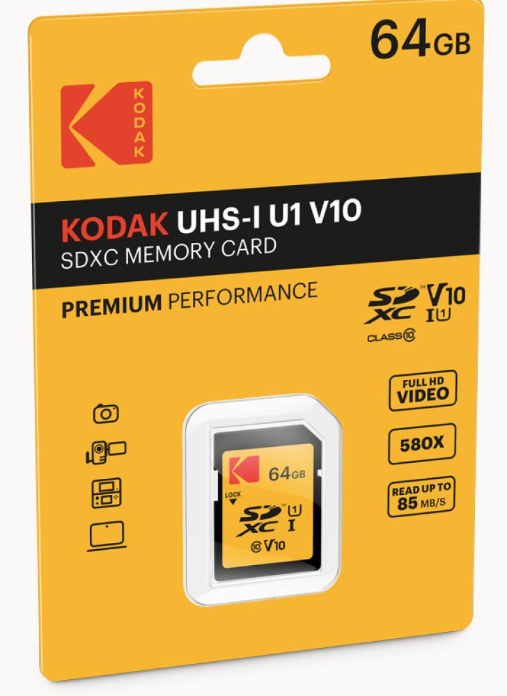 بطاقة كوداك الاصلية ذاكرة مايكرو SD من كوداك 64 جيجا