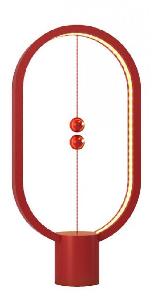 مصباح التوازن البيضاوي احمر اللون