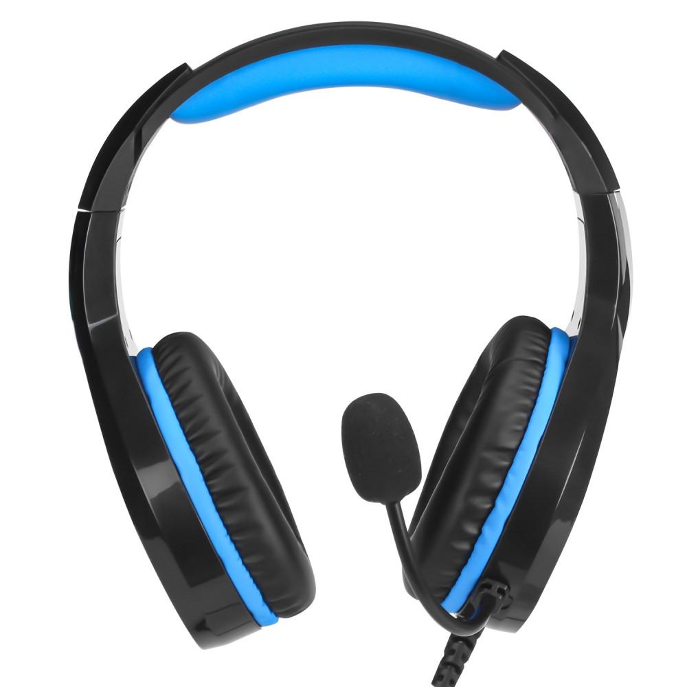 سماعة DHE-8010 ستيريو إتش بي مع ميكروفون لون اسود وازرق للقيمينق