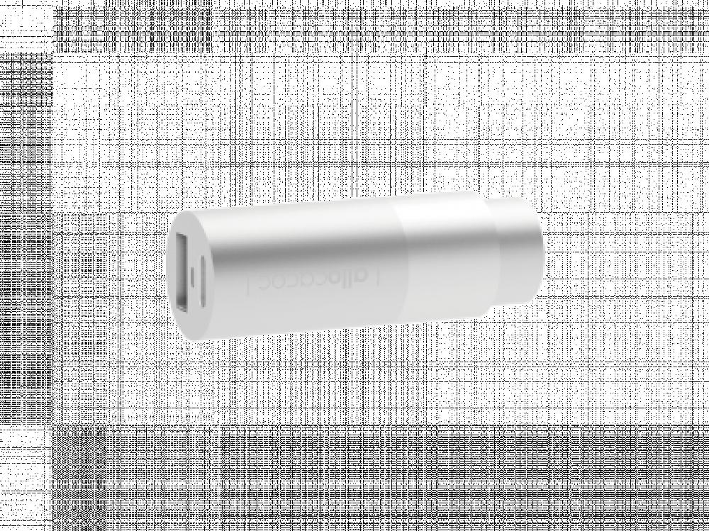شاحن الوكاكوك منفذين شحن Type C و USB المنيوم لون ابيض