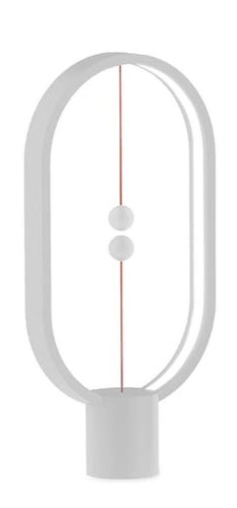 مصباح التوازن البيضاوي ابيض اللون