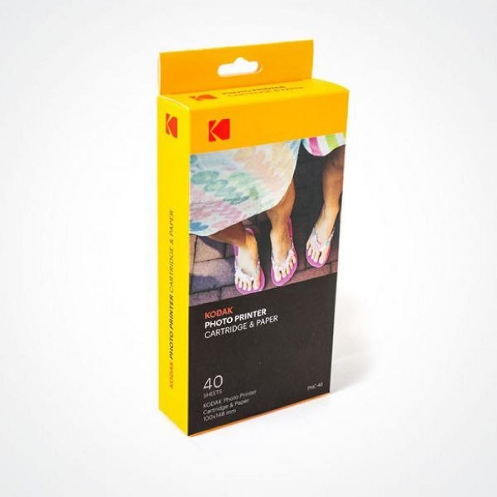 علبة حبر مع ورق لطابعة Kodak