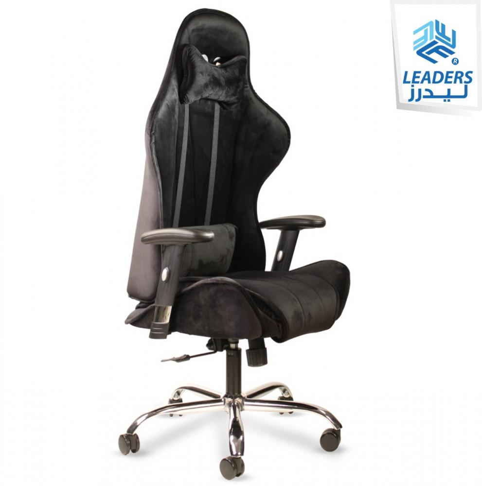 547-كرسي مكتب كوبرا مخمل أسود