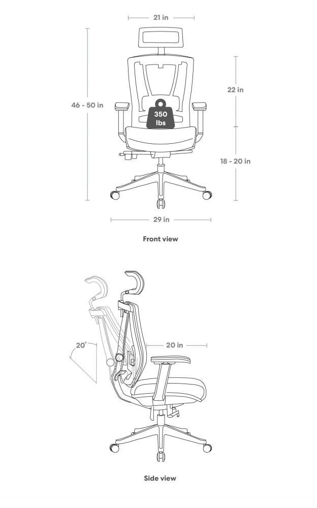 663-كرسي مكتب موديل فيكتور مع مسند قدم بالمخمل الأسود