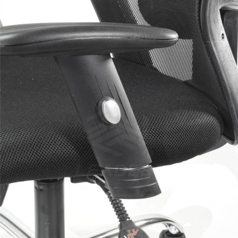 383-كرسي مكتب شبك متحرك دوار بدون مسند رأس من ليدرزـ ميش