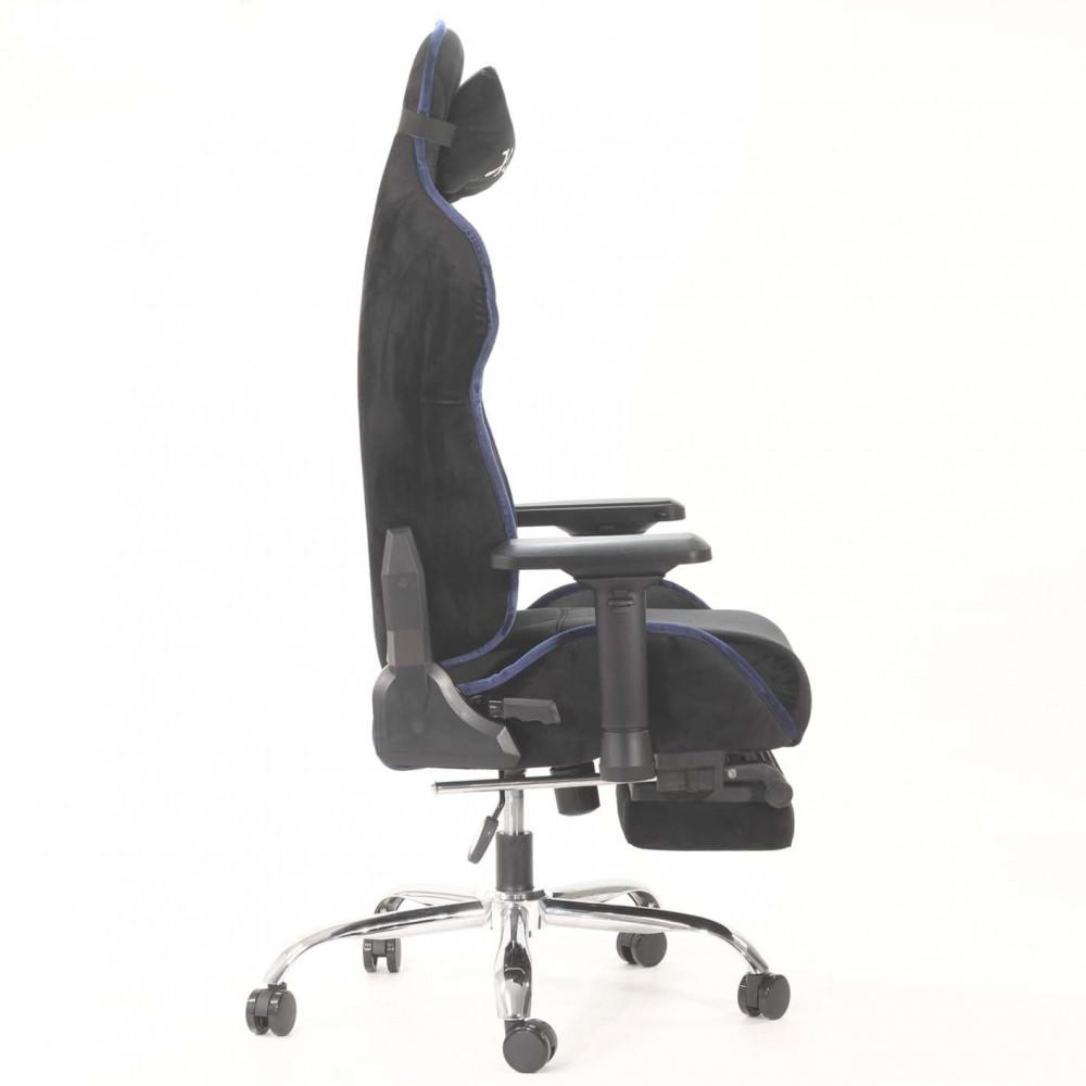 513-كرسي ألعاب قيمنق ليدر خط أزرق  مخمل