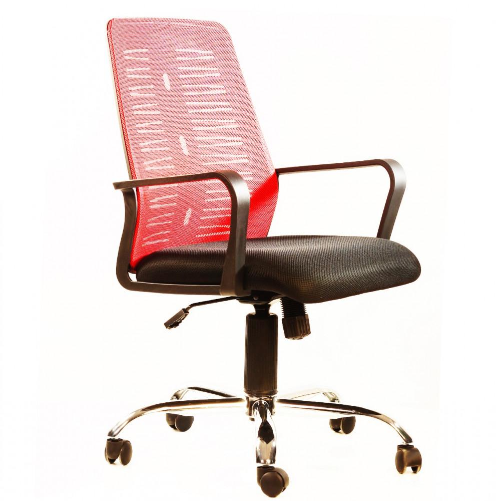 561-كرسي مكتب شبك زائر ثابت من ليدرز ميش