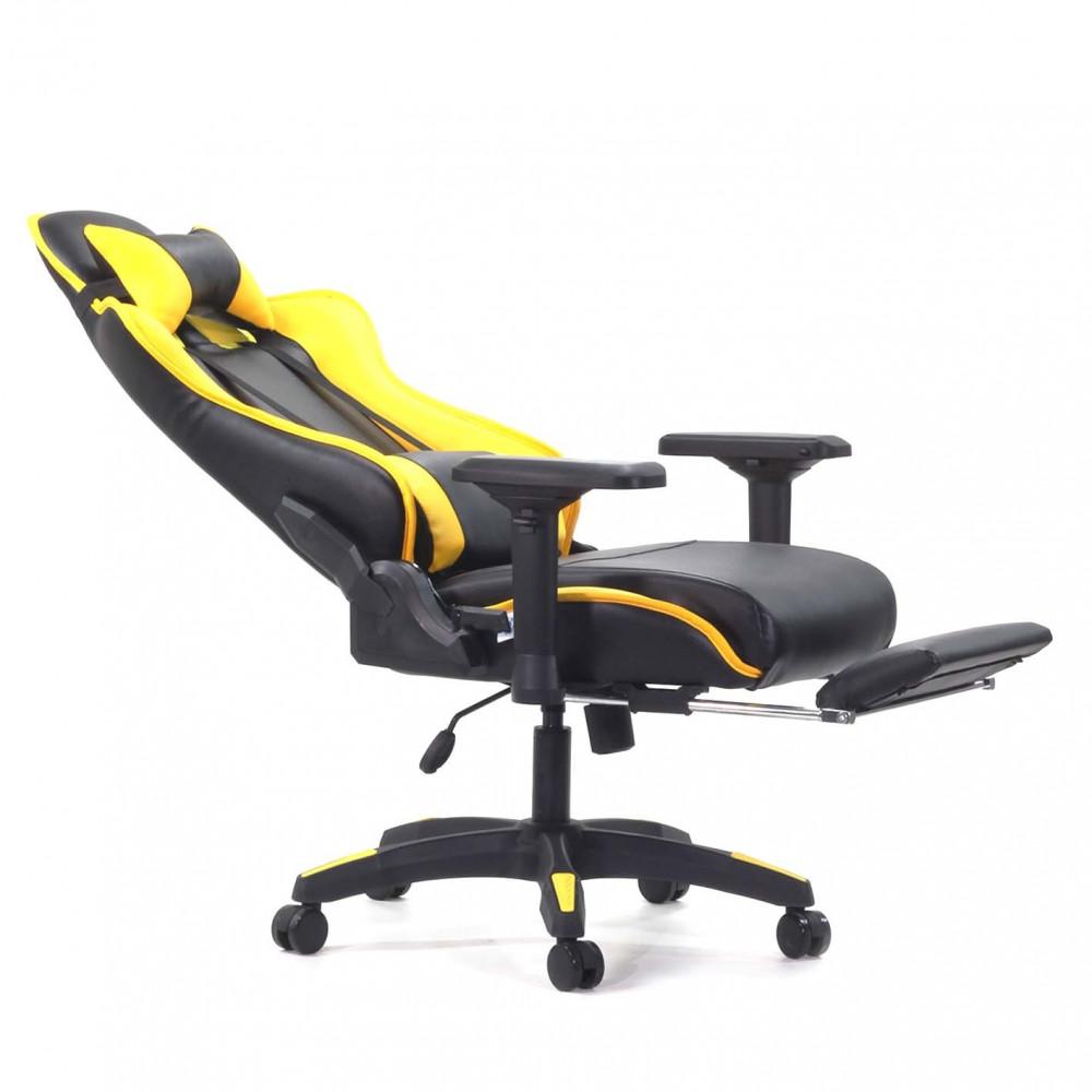 618-كرسي-قيمنق-ألعاب-تايجر-جلد-أصفر