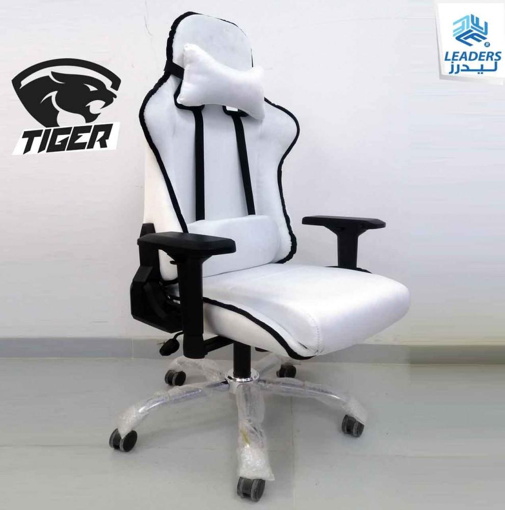 674-كرسي قيمنق تايجر مخمل أبيض