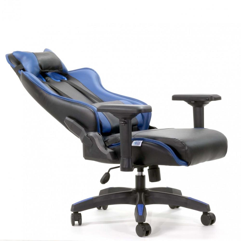 624-كرسي-قيمنق-ألعاب-تايجر-جلد-أسودXأزرق
