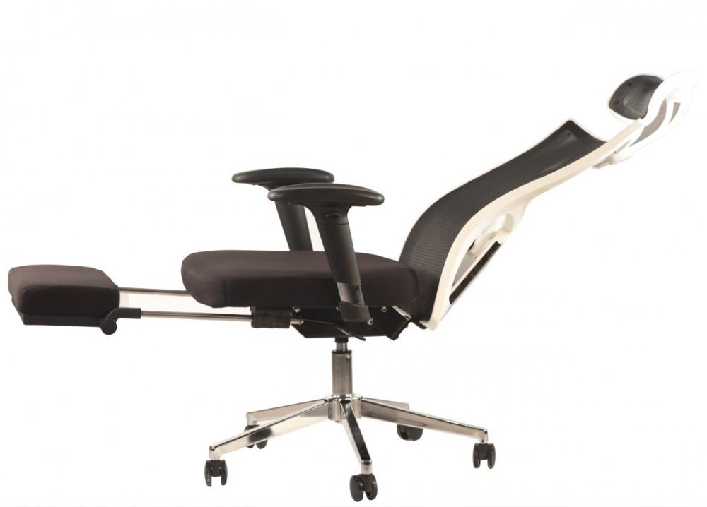 579-كرسي شبك متحرك دوار مع مسند للرأس  موديل A111-4  مع مسند القدم