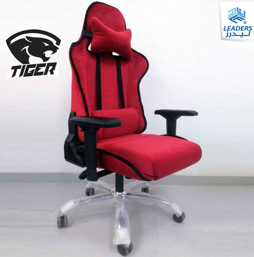 675-كرسي قيمنق تايجر مخمل أحمر