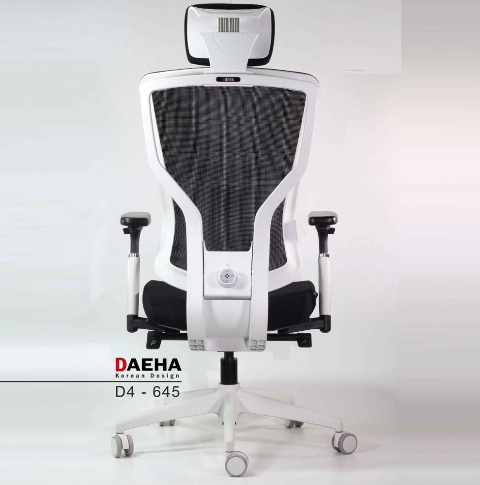 645-كرسي مكتب فاخر موديل كوري DAEHA -D4 بإطار أبيض