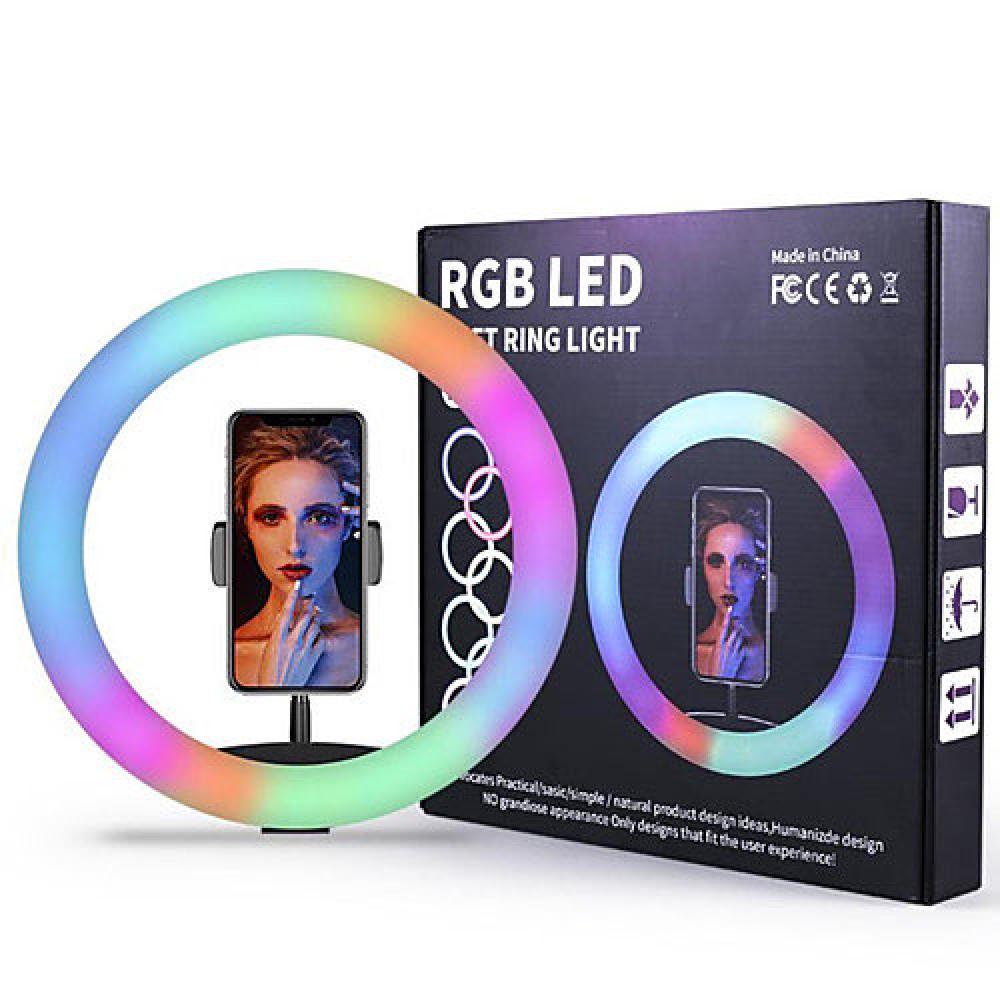 حلقة إضاءة ليد ملون rgb led R حلقة مضيئة للتصوير فوتوغرافي و اليوتوب