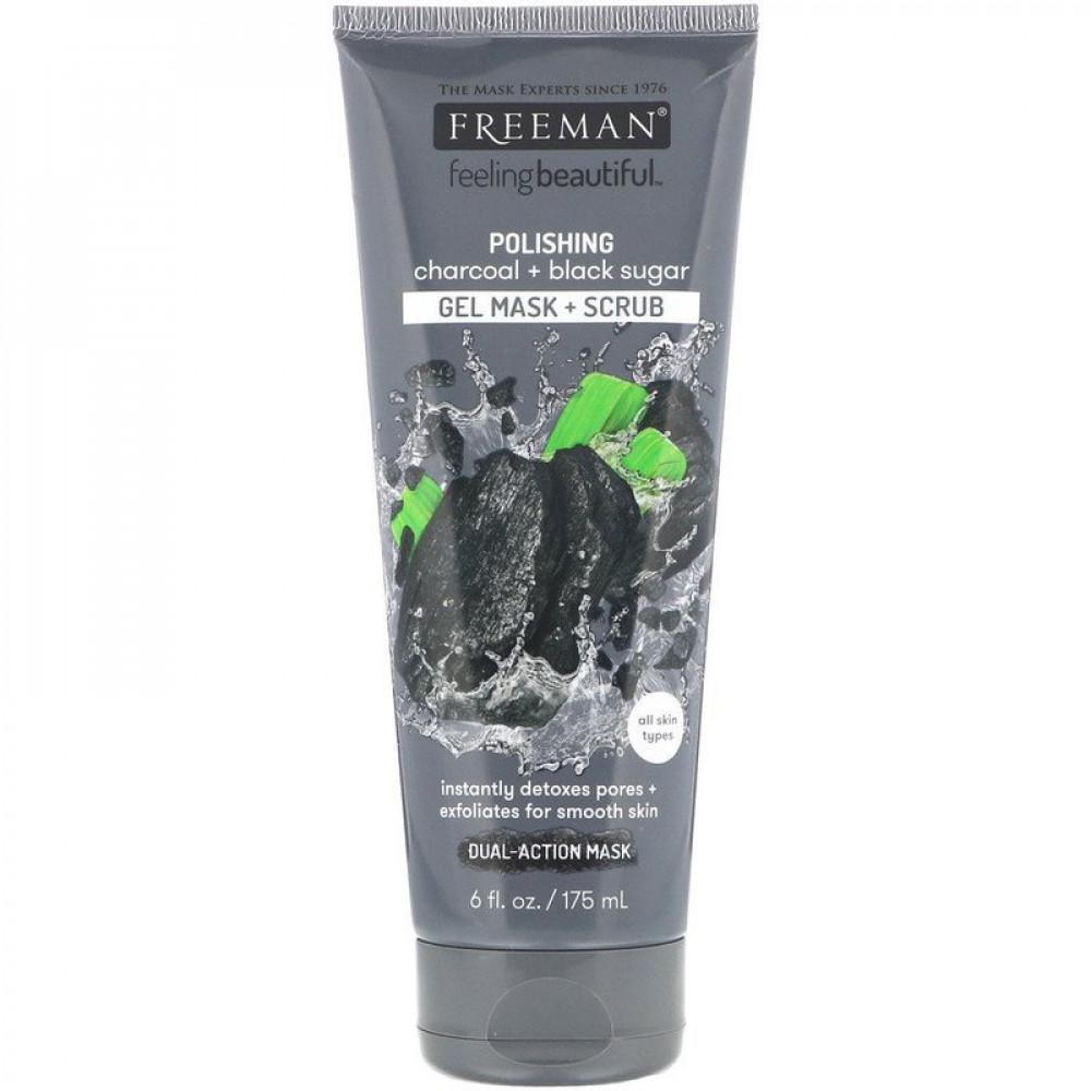 ماسك فريمان بيوتي الفحم والسكر الأسود Freeman Beauty
