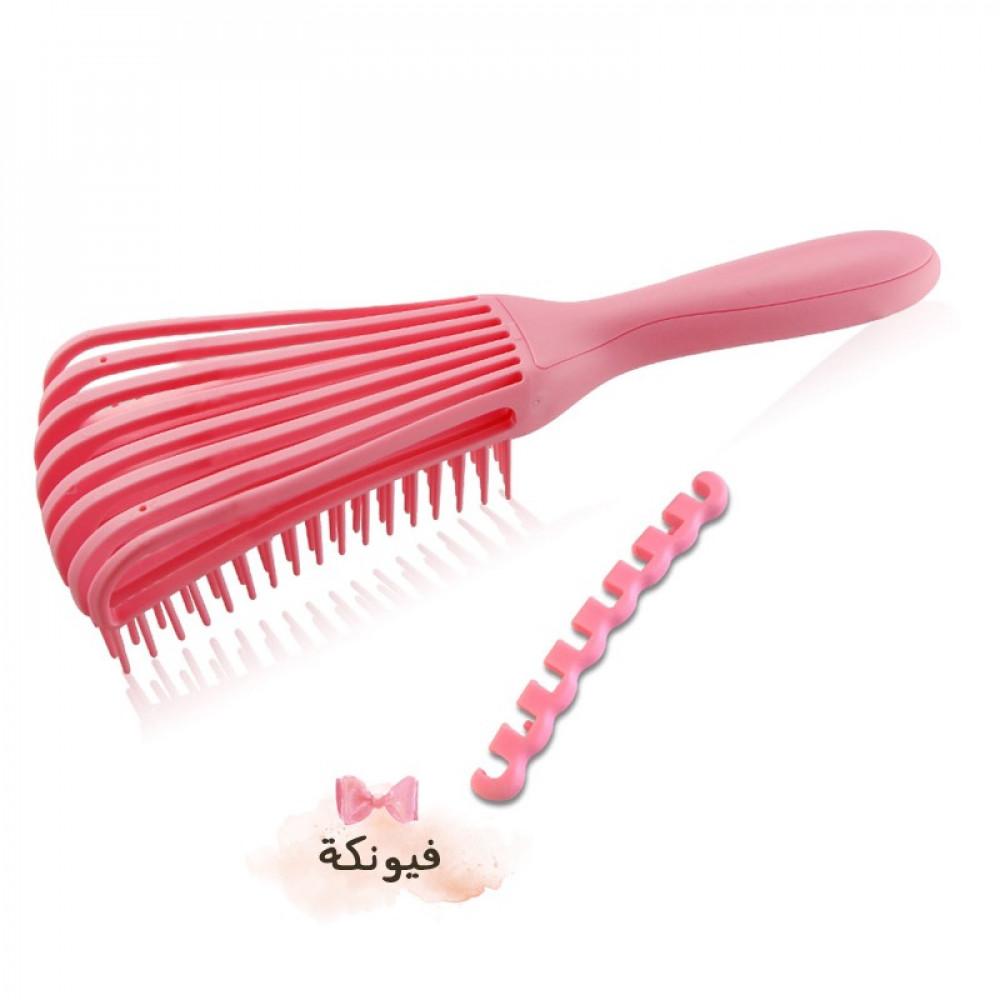 فرشاة لفك تشابك الشعر زهري Detangler Hair Brush