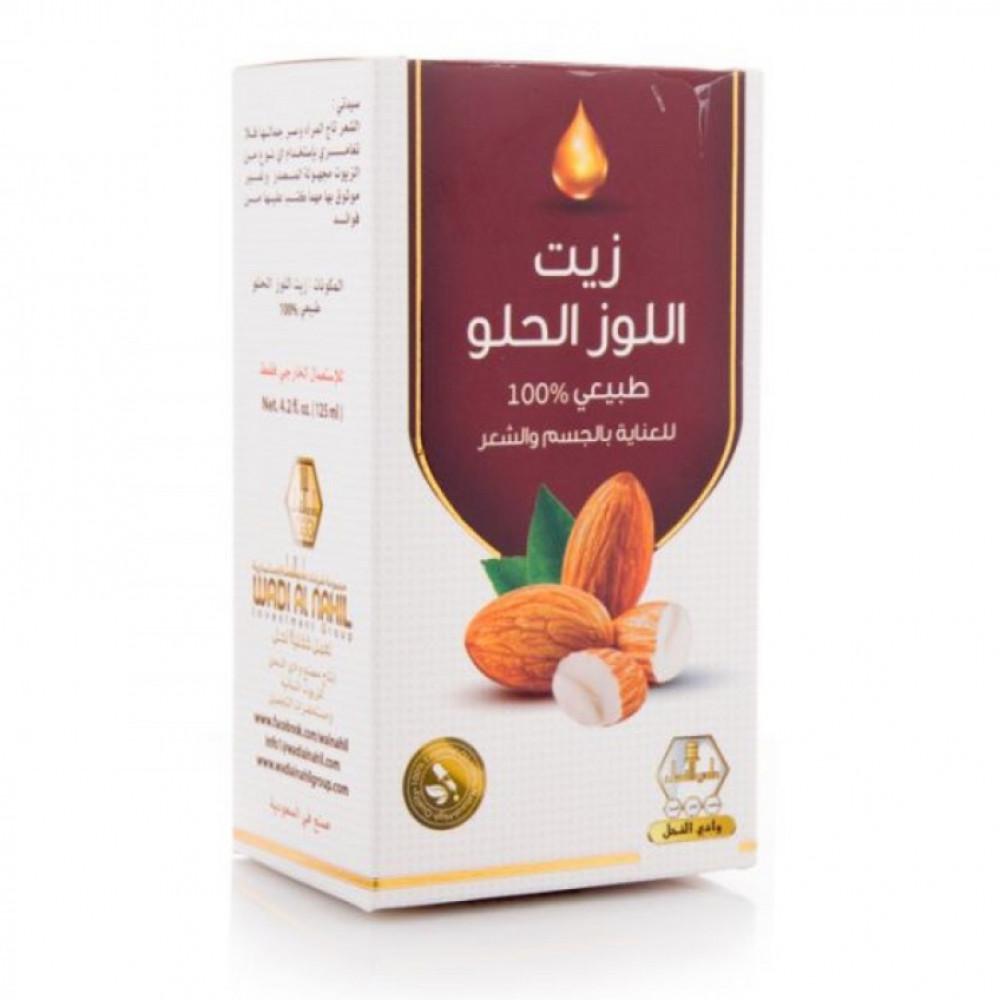 زيت اللوز الحلو للجسم والشعر من وادي النحل - 125 مل