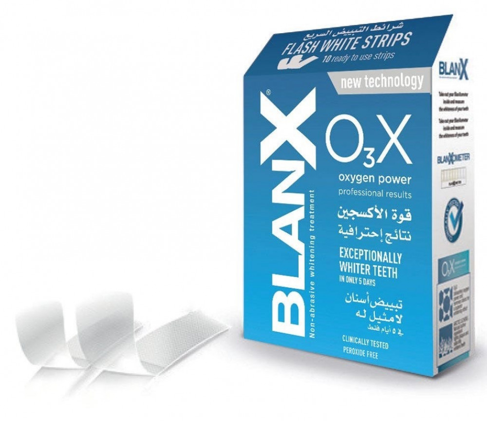10 شرائح O3X بلانكس شرائط التبيض