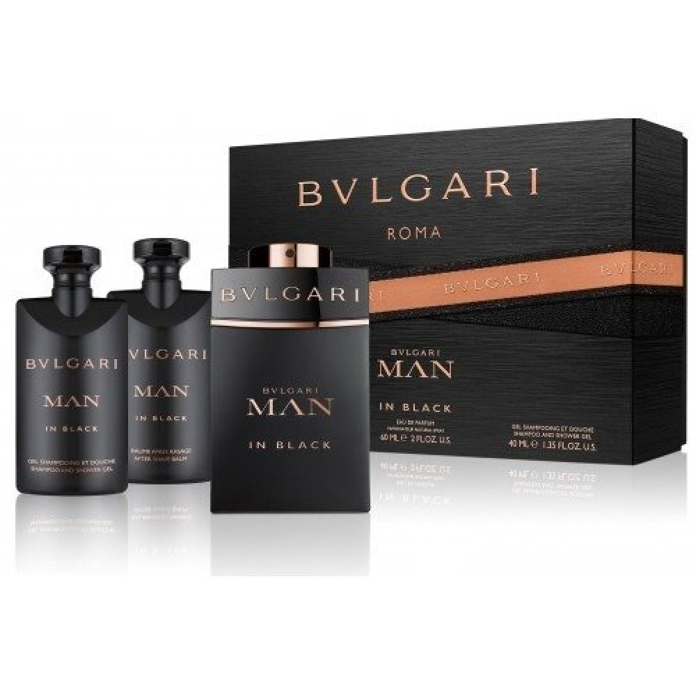 Bvlgari Man In Black Parfum Gift Set خبير العطور