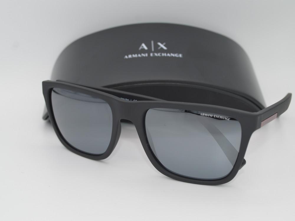 ارمانى اكستجينج ARMANI EXHANGE نظارة شمسية رجالية لون العدسة MIRRORفضي