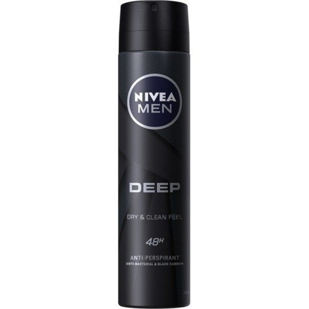 Nivea Men Deep Dry Clean Feel Deodorant Spray 150ml خبير العطور