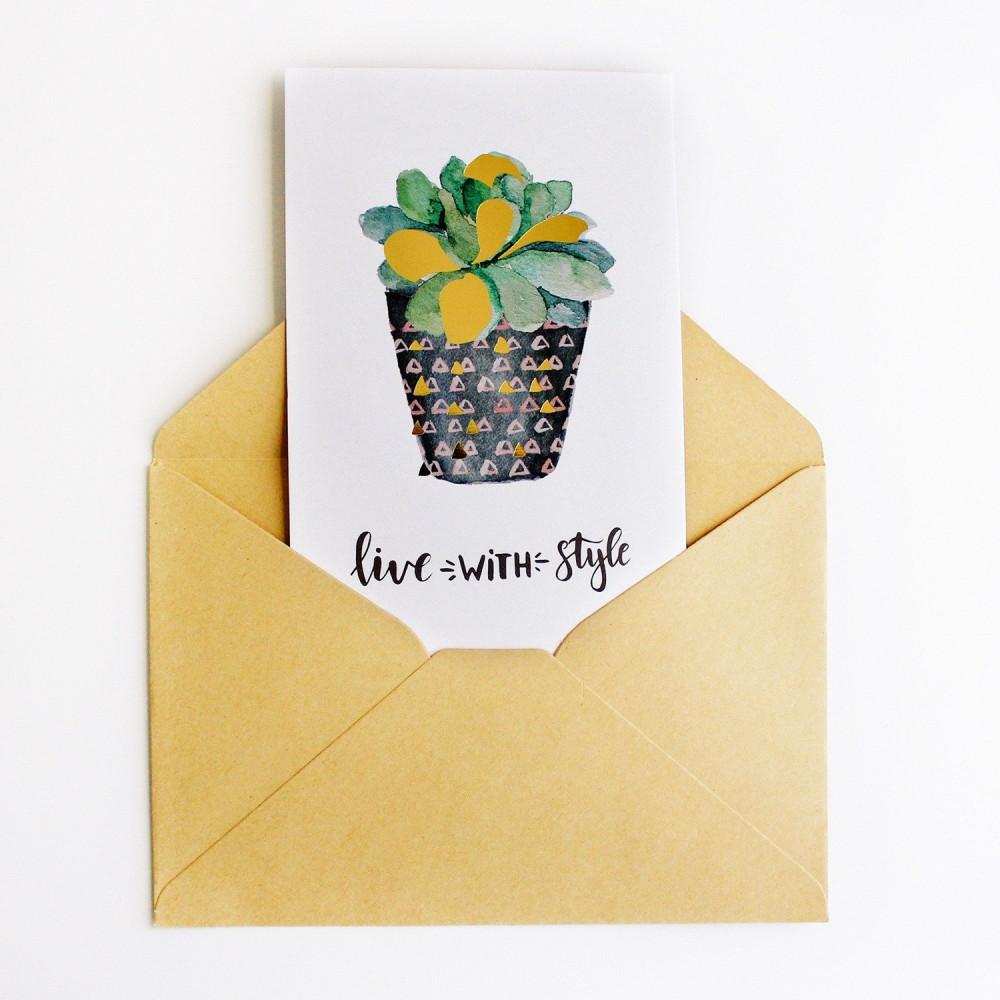 بطاقة هدية make something كرت هدية بطاقات هدية متجر هدايا بطاقة نبتة