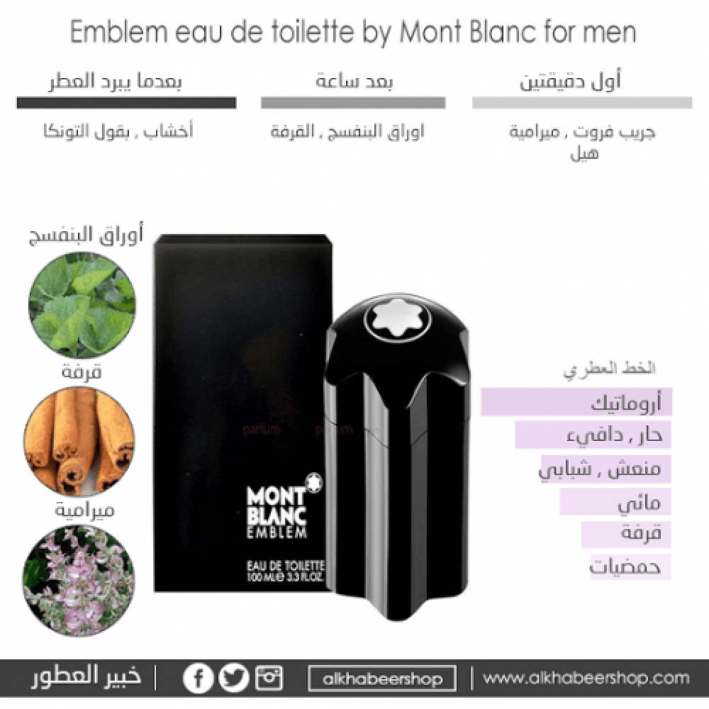 Mont Blanc Emblem for Men Eau de Toilette خبير العطور