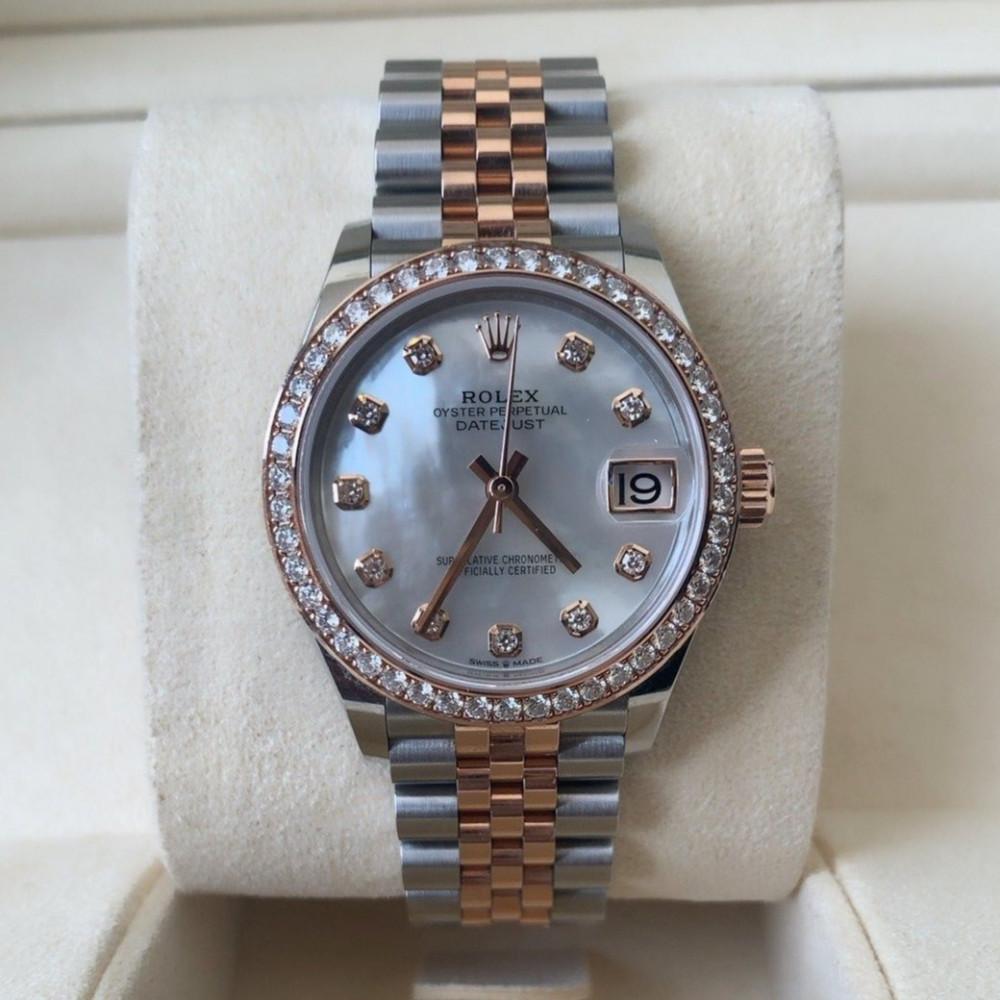 ساعة رولكس ديت جست الأصلية الثمينة مستخدمة 278381