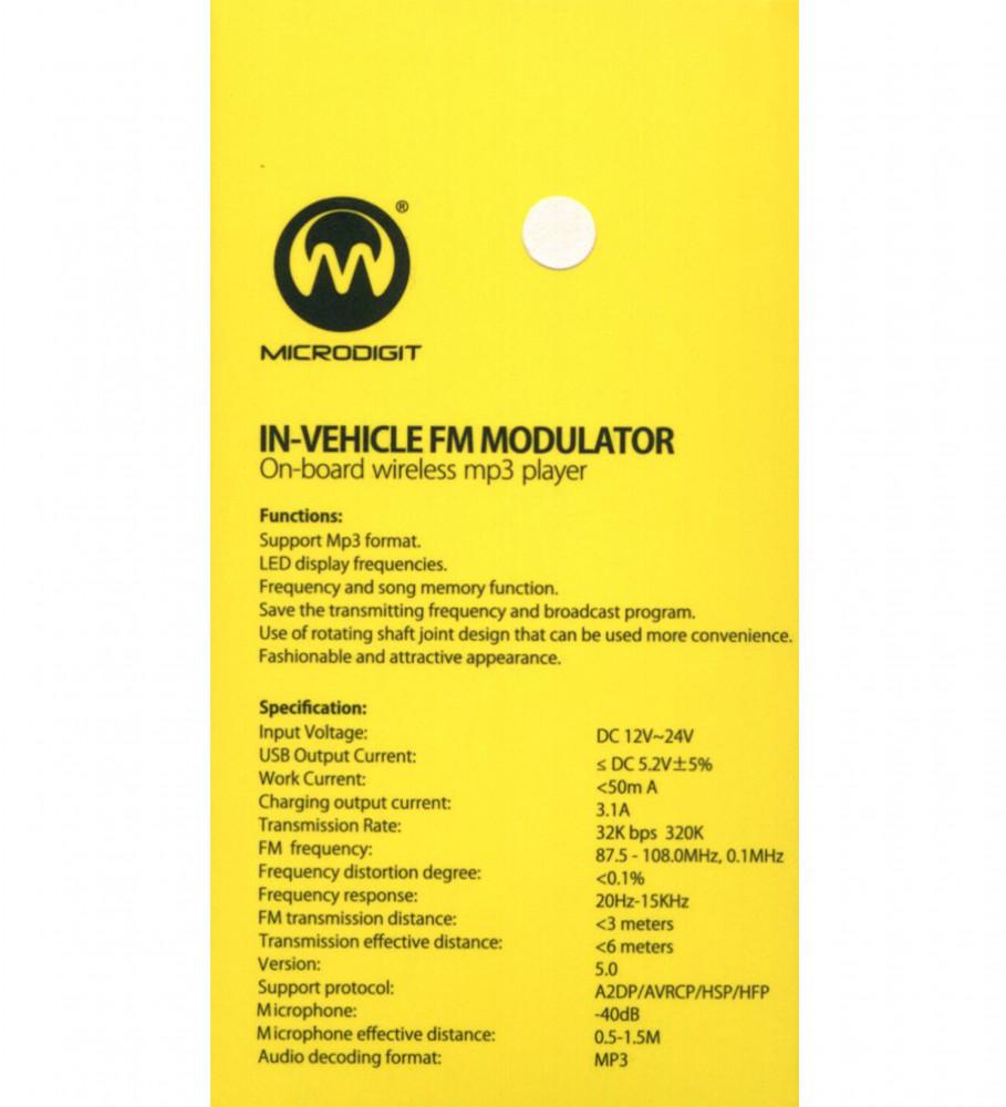 وصلة بلوتوث للسيارة-شاحن سيارة بمنفذين-M905