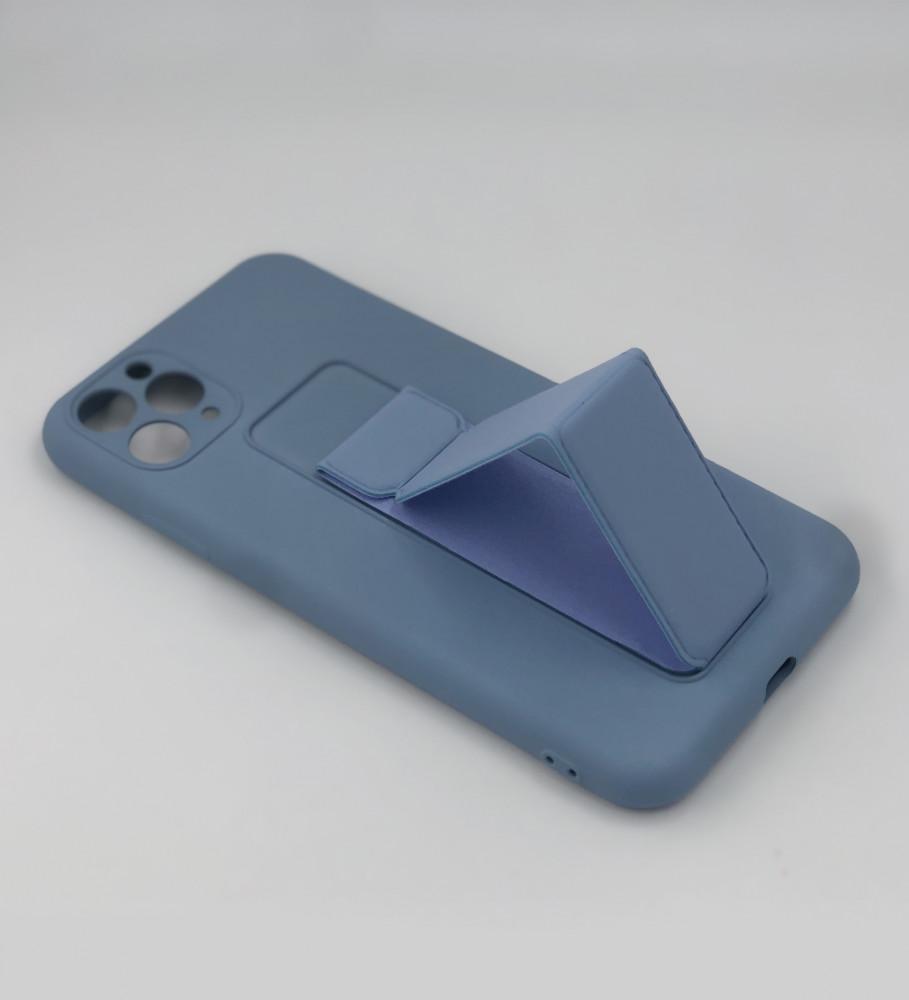 جراب ايفون 11 pro max-مسكة الجوال-أزرق