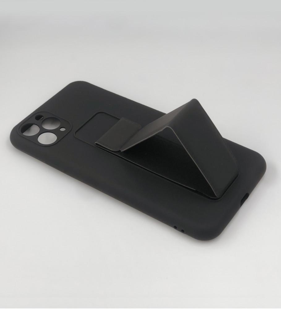 جراب ايفون 11 pro max-مسكة الجوال-أسود